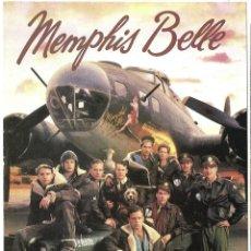Cine: MEMPHIS BELLE PROGRAMA DESPLEGABLE WARNER MATTHEW MODINE SEGUNDA GUERRA MUNDIAL B-17 BOMBARDERO. Lote 206820280
