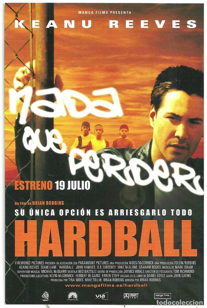 HARDBALL PROGRAMA TARJETA MANGA FILMS KEANU REEVES (Cine - Folletos de Mano - Acción)