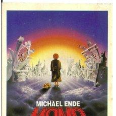 Cine: MOMO PROGRAMA TROQUELADO ADHESIVO MICHAEL ENDE JOHN HUSTON JOHANNES SCHAAF FANTASIA. Lote 114292543