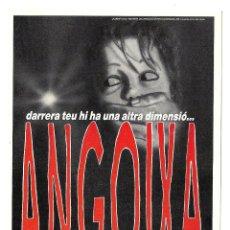 Cine: ANGUSTIA ANGOIXA PROGRAMA TARJETA POSTAL CINE ESPAÑOL LAUREN FILMS TERROR BIGAS LUNA EN CATALÁN. Lote 114293527