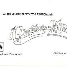Cine: LA GUERRA DE LOS MUNDOS PROGRAMA SENCILLO GOFER H. G. WELLS BYRON HASKIN. Lote 114366087