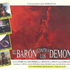 Cine: EL BARON CONTRA LOS DEMONIOS PROGRAMA SENCILLO CINE FANTASTICO ESPAÑOL RICARDO RIBELLES. Lote 115014426
