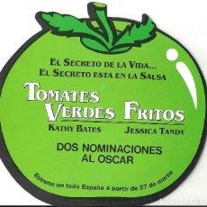 Cine: TOMATES VERDES FRITOS PROGRAMA DOBLE TROQUELADO FILMAX KATHY BATES JESSICA TANDY. Lote 127004963