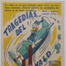 Cine: PROGRAMA DE MANO DE CINE. ORIGINAL. TRAGEDIAS DEL PATO DONALD. WALT DISNEY. Lote 114400283