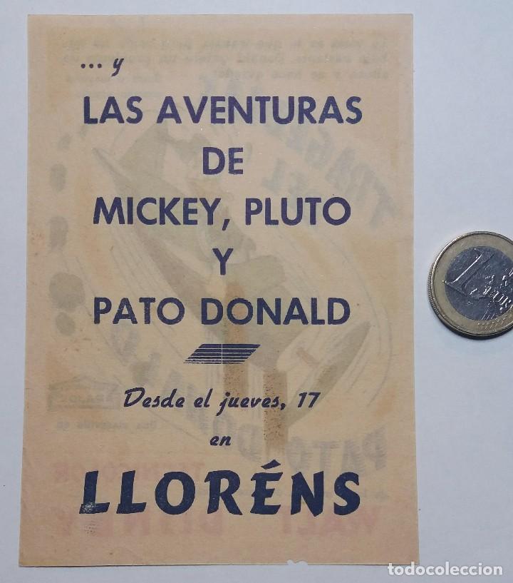 Cine: Programa de mano de cine. Original. Tragedias del Pato Donald. Walt Disney - Foto 2 - 114400283