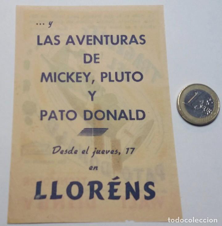 Cine: Programa de mano de cine. Original. Tragedias del Pato Donald. Walt Disney - Foto 4 - 114400283