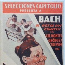 Cine: PROGRAMA DE MANO DE CINE. ORIGINAL. EL CAMPEÓN DEL REGIMIENTO. BACH. Lote 114400951