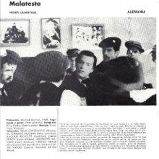 Cine: MALATESTA PROGRAMA DOBLE XV SEMANA CINE EN COLOR 1973 EDDIE CONSTANTINE . Lote 114453987