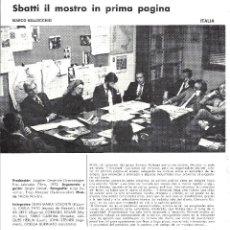 Cine: SBATTI IL MOSTRO IN PRIMA PAGINA PROGRAMA DOBLE XV SEMANA CINE EN COLOR 1973 MARCO BELLOCCHIO. Lote 114454799