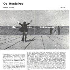 Cine: OS HERDEIROS PROGRAMA DOBLE XI SEMANA CINE EN COLOR 1969 CARLOS DIGUES. Lote 114455131