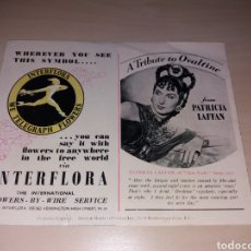 Cine: PATRICIA LAFFAN - QUI VADIS - INTERFLORA. Lote 114534767