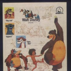 Cine: P-6374- EL LIBRO DE LA SELVA (THE JUNGLE BOOK) (CINE OCHARCOAGA - BILBAO) WALT DISNEY. Lote 114550851