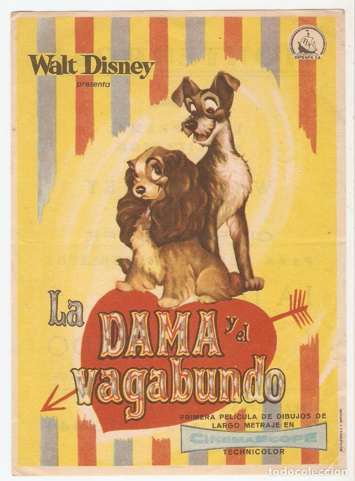 LA DAMA Y EL VAGABUNDO - WALT DISNEY (Cine - Folletos de Mano - Infantil)