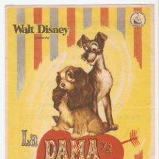 Cine: LA DAMA Y EL VAGABUNDO - WALT DISNEY. Lote 114610555