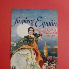 Cine: SUSPIROS DE ESPAÑA ESTRELLITA CASTRO MIGUEL LÍGERO U FILMS BENITO PEROJO CINE UNION CORAL. Lote 114732247