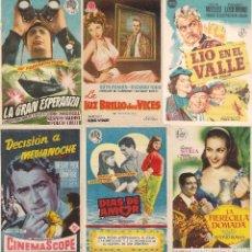 Cine: 6 FOLLETOS DE MANO - CINE PALAFOX ZARAGOZA - EL DIABLO DE LAS AGUAS TURBIAS + 2 (1956).. Lote 114746787