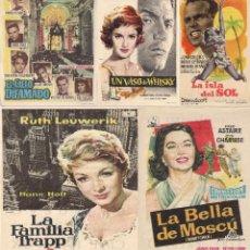 Cine: 5 FOLLETOS DE MANO - CINE PALAFOX ZARAGOZA - EL CIELO DIFAMADO, UN VASO DE WHISKY + 3 (1959).. Lote 114749131