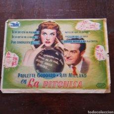 Cine: PROGRAMA DE MANO PELÍCULA LA PITONISA (PAULETTE GODDARD - RAY MILLAND). Lote 114779830