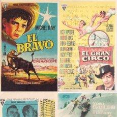 Cine: 4 FOLLETOS DE MANO - CINE VICTORIA ZARAGOZA - EL GRAN CIRCO, LOS TRAMPOSOS + 2 (1959/1960).. Lote 114791183