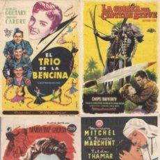 Cine: 4 FOLLETOS DE MANO - TEATRO ARGENSOLA ZARAGOZA - RIO GUADALQUIVIR, SOR ANGÉLICA + 2 (1954/1957).. Lote 114793011
