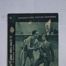 Cine: EL ULTIMO VARON SOBRE LA TIERRA TARJETA CON CINE T14. Lote 114794783