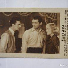 Cine: SALVADA TARJETA CON CINE AÑO 1932 T24. Lote 114798347