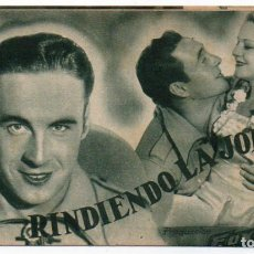 Cine: PROGRAMA TARJETA RINDIENDO LA JORNADA. Lote 114810239