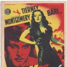 Cine: INFIERNO EN LA TIERRA CON GEORGE MONTGOMERY, GENE TIERNEY, LYNN BARI AÑO 1947. Lote 114829291