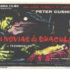 Cine: LAS NOVIAS DE DRACULA PROGRAMA SENCILLO REY SORIA HAMMER PETER CUSHING. Lote 114865707