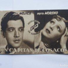 Cine: TARJETA UN CAPITAN DE COSACOS CON CINE Y FECHA 1935 E25. Lote 114904575