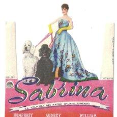 Cine: SABRINA AUDREY HEPBURN PROGRAMA TROQUELADO PARAMOUNT AUDREY HEPBURN. Lote 114909047