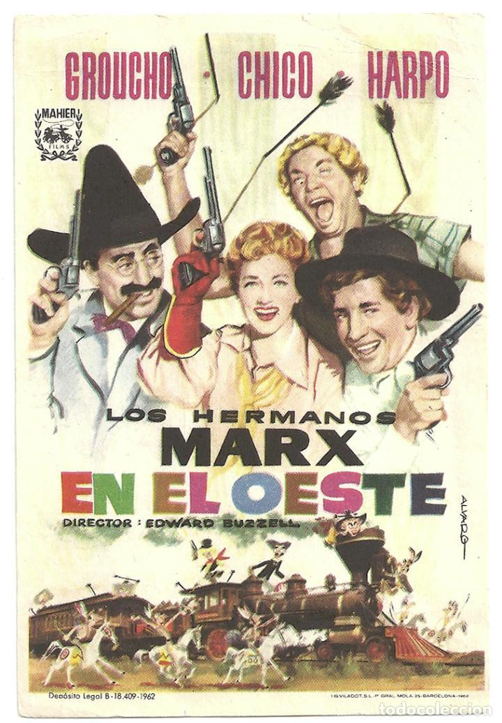 LOS HERMANOS MARX EN EL OESTE PROGRAMA SENCILLO MAHIER REPO 62 (Cine - Folletos de Mano - Comedia)