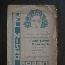 Cine: PROGRAMA CINE DOBLE - DEL MISMO BARRO - TEATRO ALBENIZ 1930 -VER FOTOS -(C-4.127). Lote 114925871