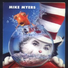 Cine: P-7383- EL GATO (THE CAT IN THE HAT) (CINESA DIAGONAL - BARCELONA) MIKE MYERS - ALEC BALDWIN. Lote 115004055