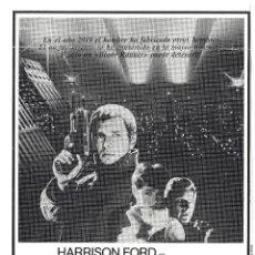 Cine: BLADE RUNNER PROGRAMA CLICHE WARNER HARRISON FORD RIDLEY SCOTT 1. Lote 115007307