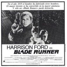 Cine: BLADE RUNNER PROGRAMA CLICHE WARNER HARRISON FORD RIDLEY SCOTT 2. Lote 115007647