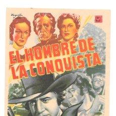 Cine: EL HOMBRE DE LA CONQUISTA SP. Lote 115008759