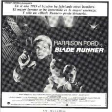 Cine: BLADE RUNNER PROGRAMA CLICHE WARNER HARRISON FORD RIDLEY SCOTT 7. Lote 115008859