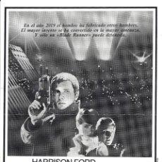 Cine: BLADE RUNNER PROGRAMA CLICHE WARNER HARRISON FORD RIDLEY SCOTT 9. Lote 115009243