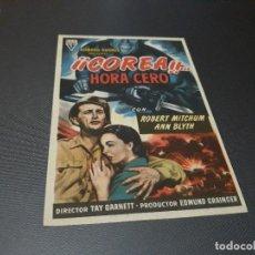 Cine: PROGRAMA DE MANO ORIGIN - COREA HORA CERO - SIN CINE ( PEDIDO MIN 5 EUROS). Lote 115030247