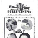 Cine: LA FALLECIDA PROGRAMA DOBLE FUTBOL LEON HIRSZMAN. Lote 115100607