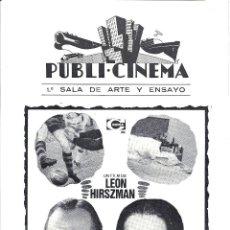 Cinema - LA FALLECIDA PROGRAMA DOBLE FUTBOL LEON HIRSZMAN - 115100607