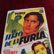 Cine: EL HIJO DE LA FURIA, TYRONE POWER, FRANCES FARMER. GRAN CINEMA OVIEDO. Lote 115212387