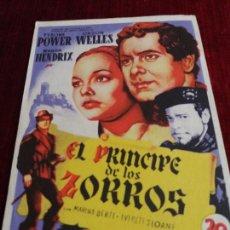 Cine: EL PRINCIPE DE LOS ZORROS, TYRONE POWER, ORSON WELLES. GRAN CINEMA OVIEDO. Lote 115213475