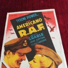 Cine: UN AMERICANO EN LA R.A.F. TYRONE POWER, BETTY GRABLE. CINE CLARIN, SOTO DEL BARCO. OVIEDO. Lote 115214947