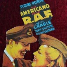 Cine: UN AMERICANO EN LA R.A.F.(TROQUELADO) TYRONE POWER, BETTY GRABLE. Lote 115215363