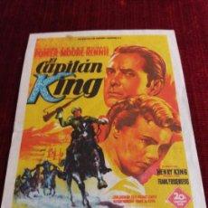 Cine: EL CAPITAN KING. TYRONE POWER. HENRY KING.TEATRO PRINCIPAL. ESPLUGA DE FRANCOLI. Lote 115216255