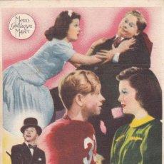 Cine: ANDRÉS HARVEY MILLONARIO CON LEWIS STONE, MICKEY ROONEY, CECILIA PARKER,AÑO 1944 CON PUBLICIDAD. Lote 115266015