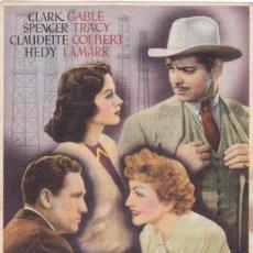 Cine: FRUTO DORADO CON CLARK GABLE, SPENCER TRACY, CLAUDETTE COLBERT, HEDY LAMARR AÑO 1944 CON PUBLICIDAD. Lote 115267839