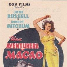 Cine: UNA AVENTURERA EN MACAO CON JANE RUSSELL, ROBERT MITCHUM AÑO 1955 EN CINEMAS PRINCIPAL Y LA RAMBLA. Lote 115270747
